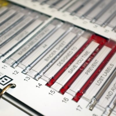 Base Labels, sleeved Traffolyte cable markers sheets