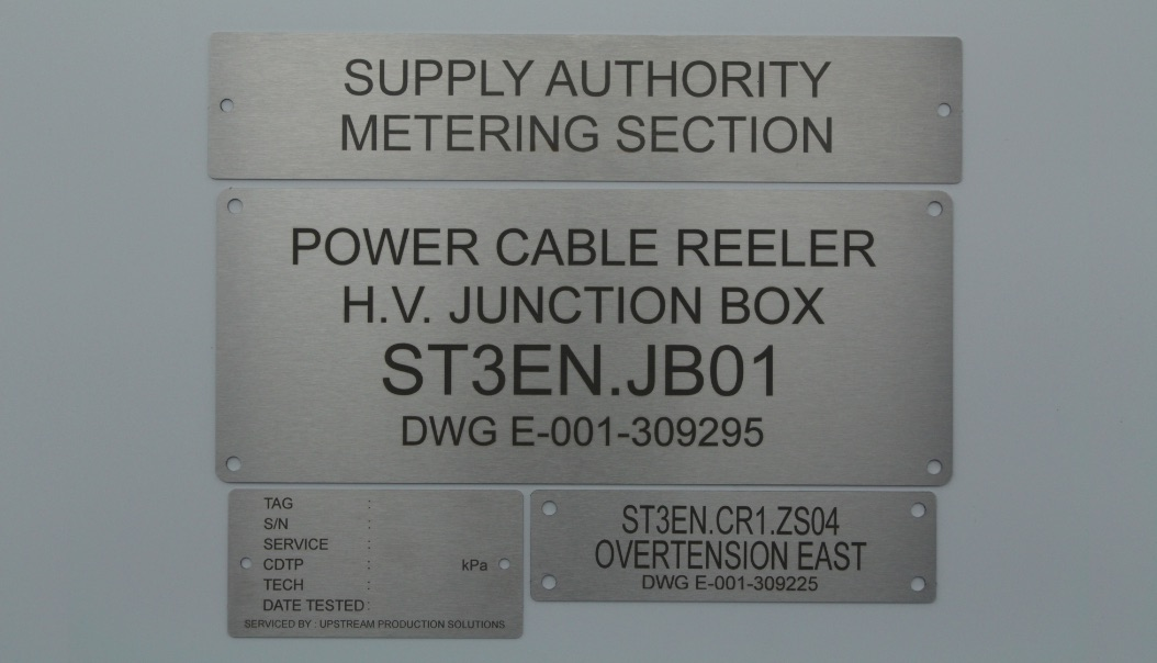 Laser Engraved Labels for Any Project, Engraved Stainless Steel Labels Queensland