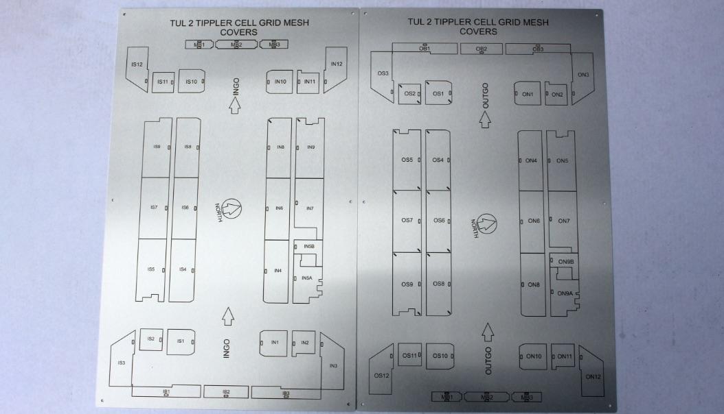Laser Engraved Labels Engraved Stainless Steel Floorplan Labels