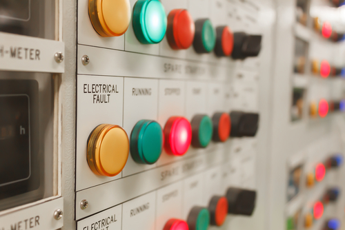 Control-panel-with-Traffolyte-Engraved-Plastic-Labels