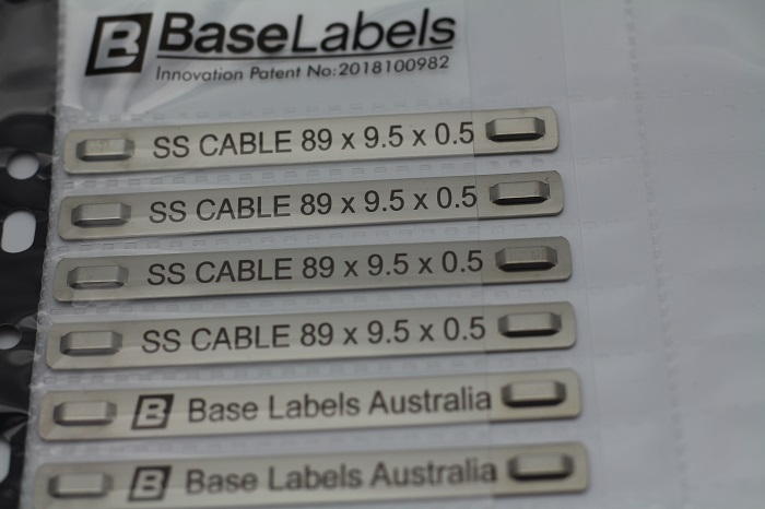 Stainless Steel Cable Markers Base Labels